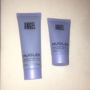 2 ANGEL MUGLER BODY LOTION 1.7 Oz and 1.0oz